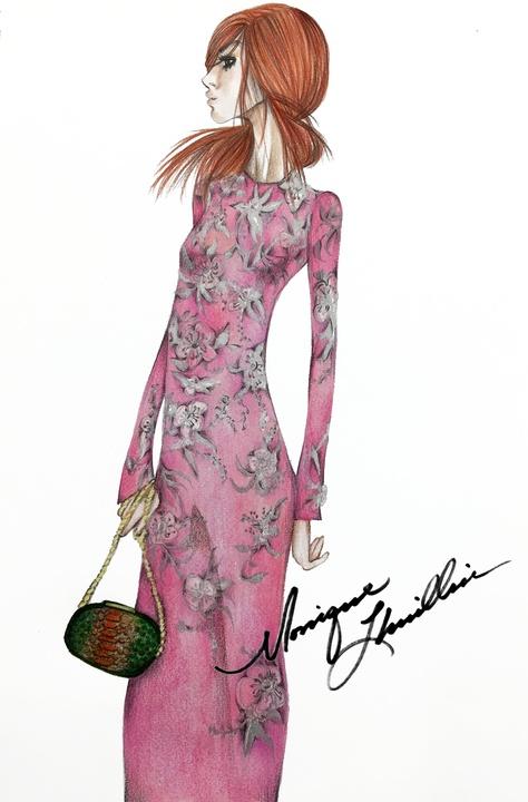 Monique Lhuillier sketch fall 2016