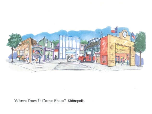 Fort Bend Children's Discovery Center January 2014 Kidtropolis rendering