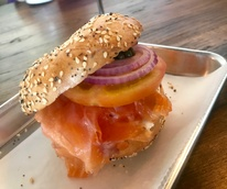 Golden Bagels & Coffee lox bagel sandwich