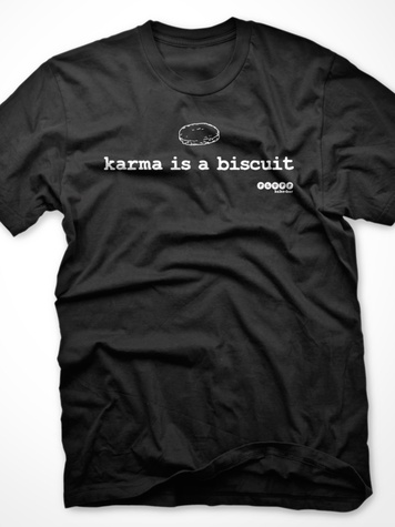 Fluff Bake Bar Rebecca Masson karma is a biscuit t-shirt