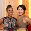 2838 Saba Asfaha, left, and Vanessa Hughes at the Crimson grand opening party July 2014
