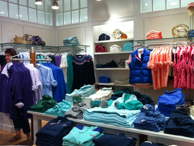Vineyard Vines store in The Woodlands October 2013 women's clothing department
