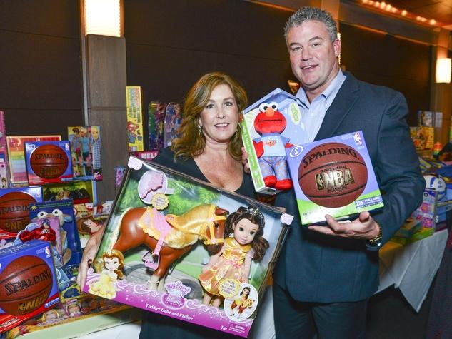 3 Hailey and Mark Stevens at Joyful Toyful December 2013