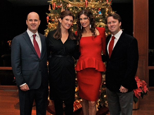 Legacy Holiday Schmooze, December 2012, Matt Johnson, Rosemarie Johnson, Melissa Mithoff, Michael Mithoff