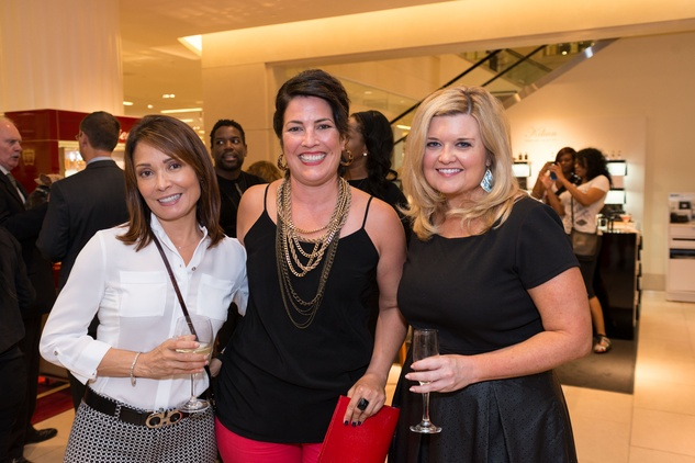 Beverly Jernigan, from left, Kacy White and Ann Massey at the CAP kick-off at Saks September 2014