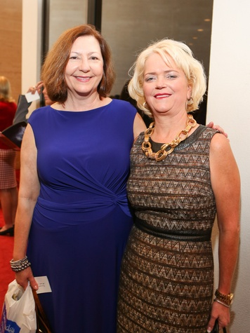 Theresa Mallett, left, and Chree Boydstun at the SPA luncheon October 2013