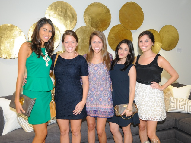 Sofie Medina, from left, Katie Cage, Hilary Rosenstein, Jessica Meyerson and Mary Rosenstein at the Mitchell Gold + Bob Williams Houston grand opening celebration