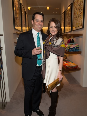 Kelley and Donnie Young at Kermit Oliver at Hermès February 2014