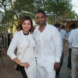 Laura Tellez and Ben Simon at the Urban Green Birthday en Blanc May 2014