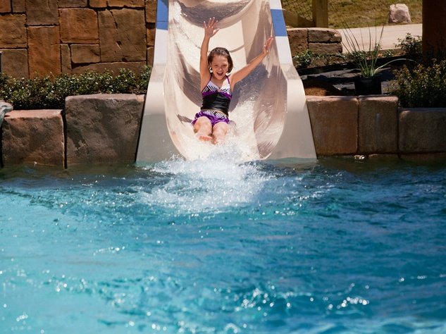 Water slide at Gaylord Texan Resort in Grapevine