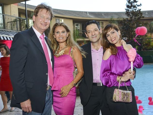 Party in Pink Hotel ZaZa, Jess Fields, Varda Dror, Carlos Barbieri, Karina Barbieri, July 2013