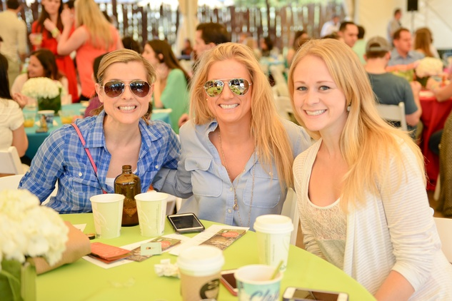 Amber Koons, from left, Amanda Knutson and Kenna Sullivan at Houston's Young Professionals Flock to a Beastly Brunch at the zoo February 2015