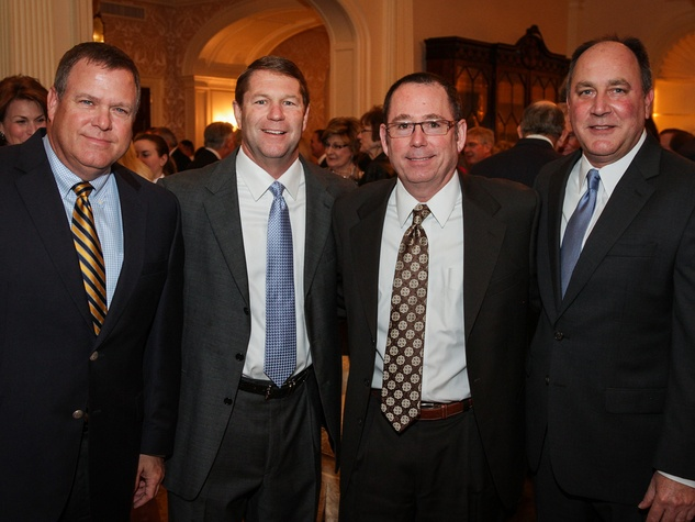 8 David Trice, from left, Bret Aldridge, Joey Dupuis and Jerry Foyt at the Men of Distinction kick-off party February 2014