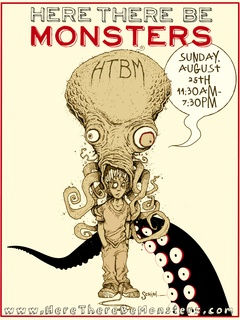 Here There Be Monsters Con poster