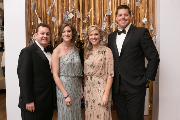 13 Kevin and Amy Holmes, from left, and Christina and Blair Frederick at the Junior League of Houston Gala February 2015