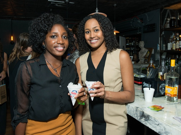 7 Alycia Holland, left, and Brithney Watson at the CultureMap Summer Social July 2014