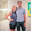 Lawndale Art Center The Big Show VIP reception July 2013 Whitney Radley and Bradley Kerl