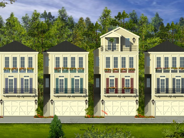 Heights, Montrose tall and skinny houses rendering March 2014 Madeline