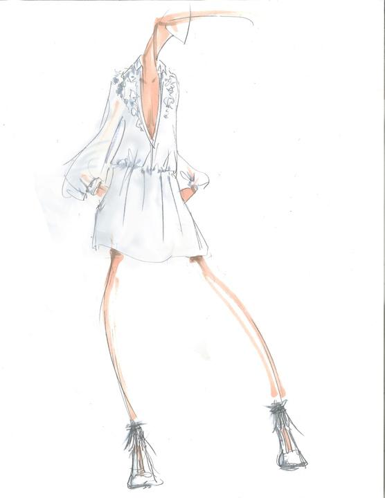 BCBG Max Azria inspiration sketch fall 2016 collection New York Fashion Week