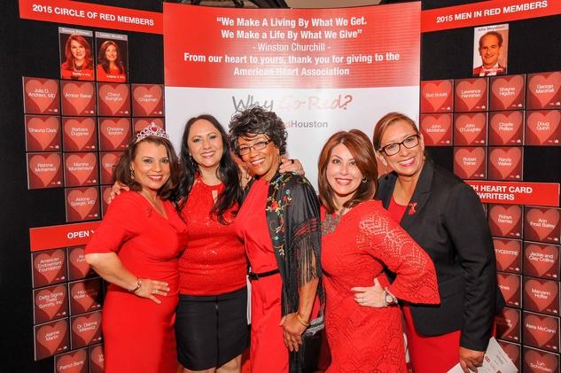 Houston, News, Shelby, Go Red For Women, April 2015, Veronica Sanchez,Martha Cuellar-Thompson, Luz Mouton,Sharon Zapata, Sandra Shafer