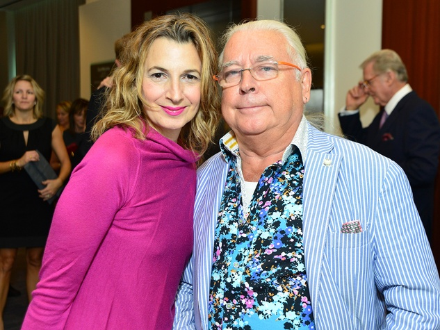 Marisa Arcocella Marchetto and Silvano Marchetto at the Memorial Hermann Razzle Dazzle Pink Luncheon October 2013