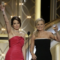 Tina Fey and Amy Poehler at the Golden Globes January 2014