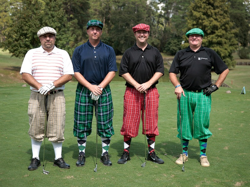 Bad Pants golf tournament, October 2012, Ray Sinkiewicz, Terry Rider, Jeff Heberling, Jeb Bundock