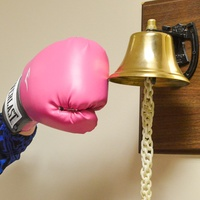 2 Shelby is a fighter ringing the bell after cancer treatment October 2013