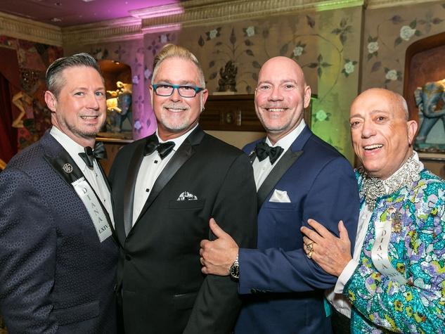 Craig McLemore, Dr. John Share, Chuck Brown and Michael Kemper at Diana Awards