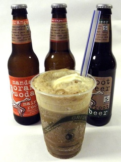 Root beer float at Cow Tipping Creamery in Austin