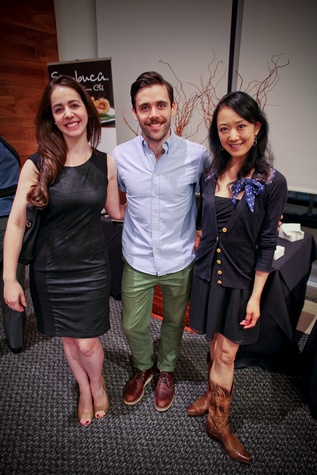 Lela Brodsky, from left, Connor Walsh and Nao Kusuzaki at the Houston Ballet Center for Dance's Ballet and Bubbles October 2013