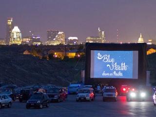 Blue Starlite Mini Urban Drive-in theater Austin