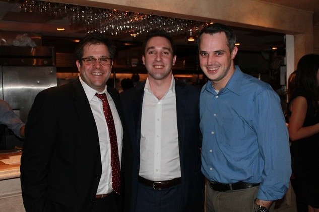 Chris Goodwin, from left, Derick Heckendorn and Zack Howard at the Friends of St. Jude Spring Happy Hour March 2015