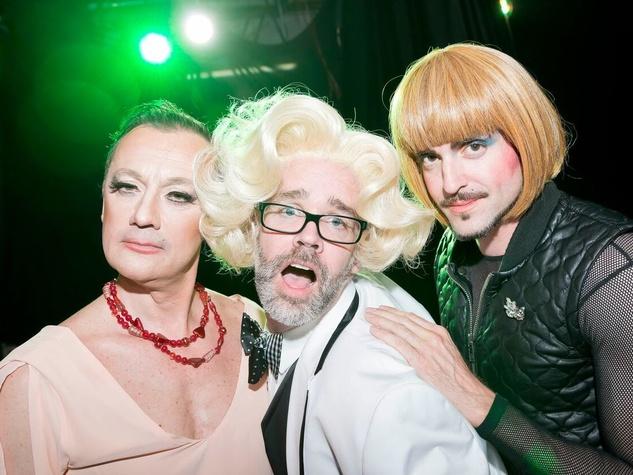 Catastrophic Theatre Drag Ball 2015 Michel Muylle, Michael Pearce, Fritz McDonald