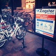 Zagster bike sharing stand in downtown Dallas