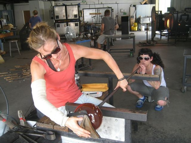 Austin Photo Set: News_Shelley Seale_gift of experience_Dec 2011_glass blowing