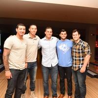 Houston, George Springer All-Star Bowling Benefit, July 2015, Vincent Velasquez, Carlos Correa, George Springer, Lance McCullers, Preston Tucker