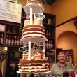 Drew's Pastry Place  on Bakery Boss January 2014 Cannoli Cake tower with Jack Rogers