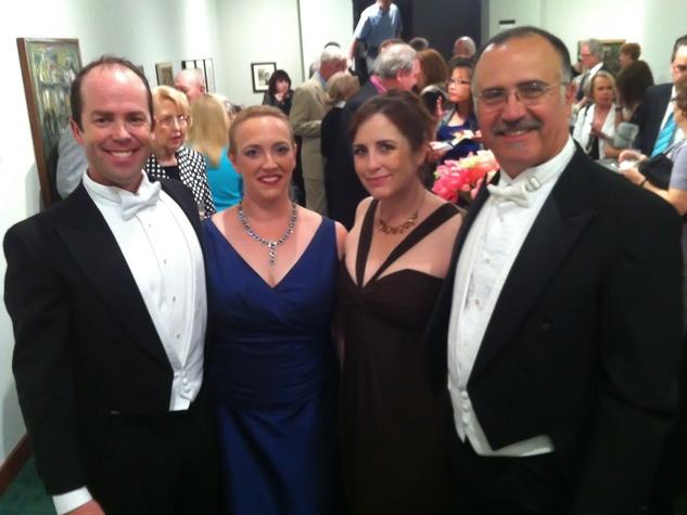 Texas Music Festival, opening reception, June 2012, Vale Rideout, Heather Scanio, Cynthia Clayton, Hector Vasquez