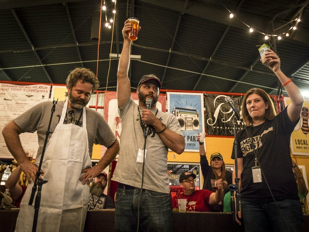 Jeffery Hobbs, Chad Houser, Alice Laussade at Meat Fight 2013