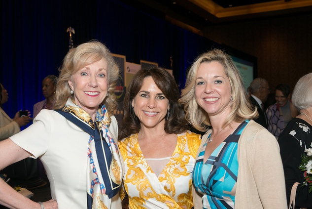 Catherine Mosbacher, from left, Maria Bush and Julie Baker at the Center for Houston's Future luncheon March 2015
