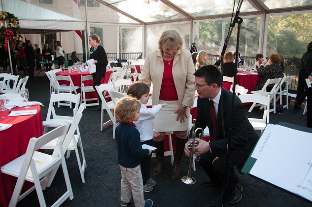 18 George Chase, Susan French and her two grandsons at the ROCO Yuletide Concert at Bayou Bend December 2014