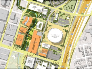 Plans for the Dell Medical School at UT, which the teaching hospital will be a part of.