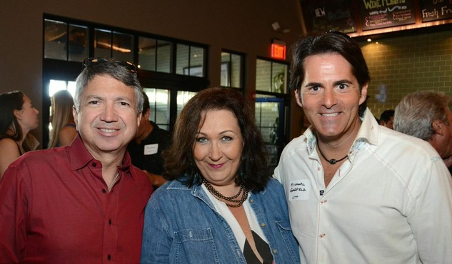 Ron Trevino, from left, Cleverly Stone and Michael Garfield at the Houston Restaurant Kick-Off Event July 2014