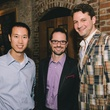 Andy Lee, from left, Glenn Taylor and Liam Bonner at the Houston Symphony Young Professionals Backstage kick-off party