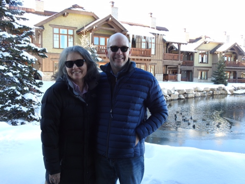 """Debbie McLeod and Jay Sears who are investors or executive producers of five Sundance films including """"Icarus"""" and """"Trophy""""  taken at the Sundance Film Festival 2017"""