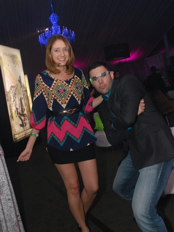 28 4179 Tatiana Fofanoda and Pedro Silva at Club Berlin Baker Institute party November 2013