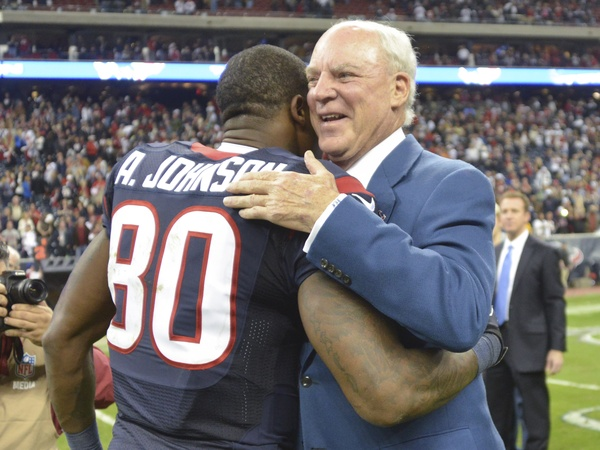 Bob McNair Andre Johnson hug
