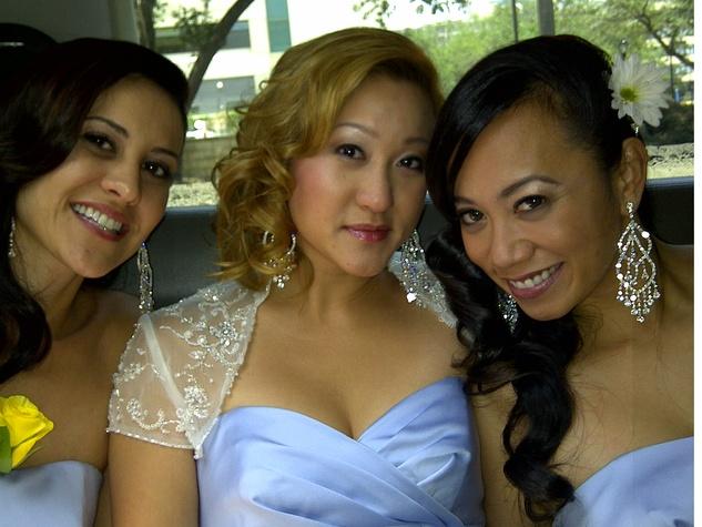 Rosie, from left, me and Eva Wonderful Weddings Always a Bridesmaid February 2014