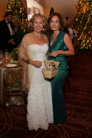 June Christensen, left, and Melanie Gray at the Houston SPA Society for the Performing Arts Gala March 2015